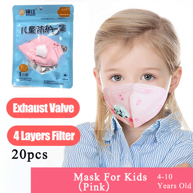 Spot Face Mask Mouth Masks With Valve For Kids Children Anti Dust Pollution Filter PM2.5 Protective Hygiene Respirator tapabocas