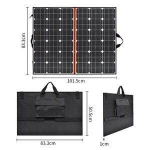Image 2 - 120W (2 PCS * 60W) watt Faltbare Schwarz Solar Panel Ladegerät China Mono Solarzelle Pv modul 10A Controller Solar Decke Lade