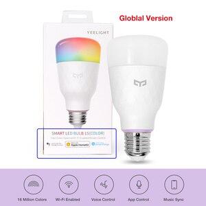 Image 2 - הכי חדש Yeelight RGB LED חכם הנורה 1S צבעוני E27 8.5W 800 לום החכם WiFi אור נורות עבודה עבור אפל Homekit שלט רחוק