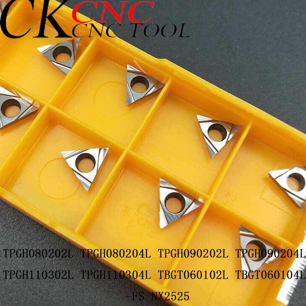 10pcs TBGT060104L-FS VP15TF TBGT1.211LFS Carbide blade Thread turning lathe tool