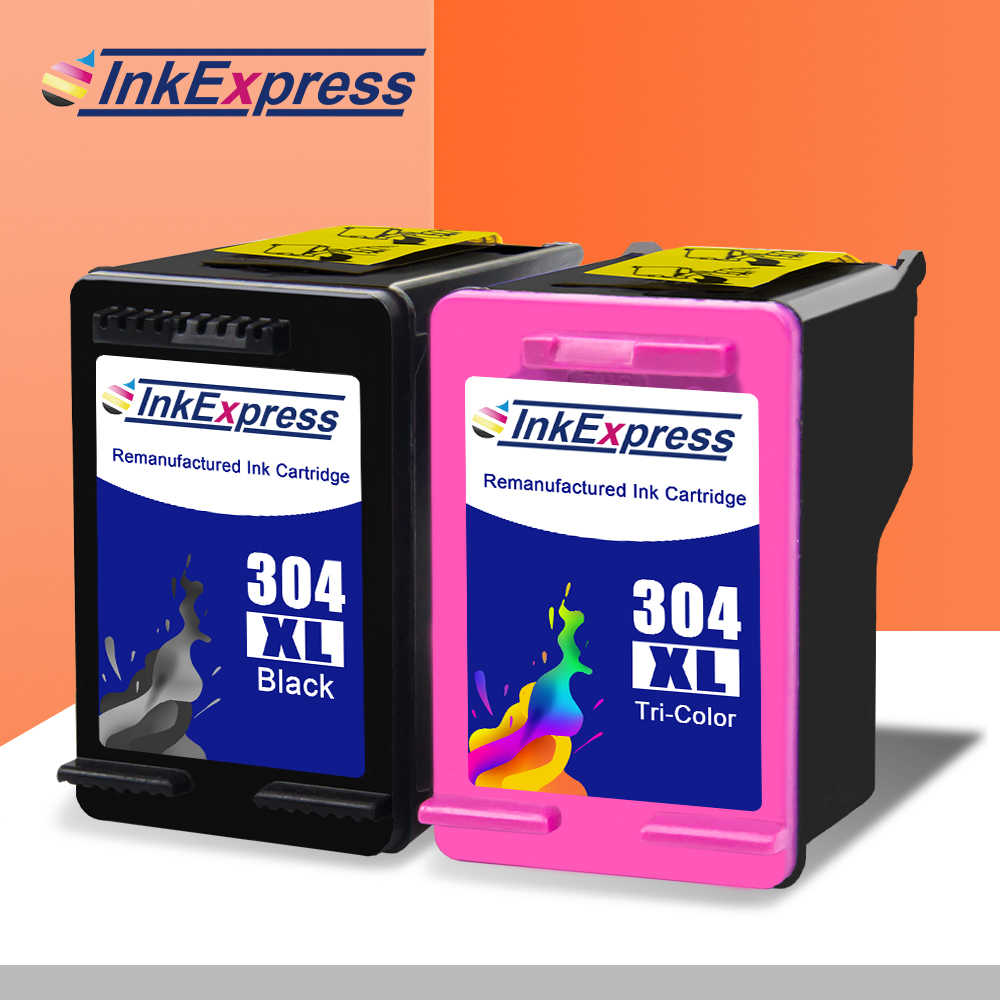 Inkexpress 304XL Cartridge Kompatibel untuk HP 304XL Printer Deskjet 2620 2630 2632 2633 2634 Iri 5020 5030 5032 Printer