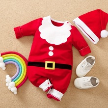 Girls Rompers Santa-Claus Newborn Outfits Jumpsuits Christmas-Costume Toddler Boys Kids Baby