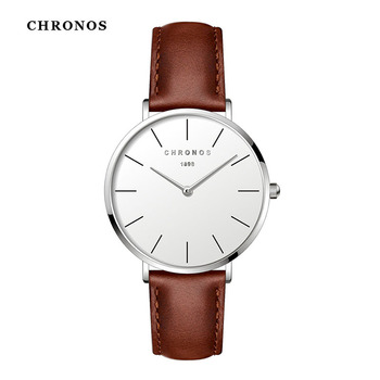 CHRONOS Women Watch Buckle Belt Simple Dial Fashion Leather Quartz Watch Lady Minimalist Analog Face Montre Femme CH3303 2016really cheap geneva fashion unisex leisure dial leather band analog clock hour quartz wrist watch for men women montre femme