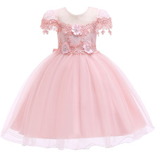 Christmas Girl Dress Embroidery Princess Wedding Party dress New Year For Girls Clothes thanksgiving dress little girls dresses