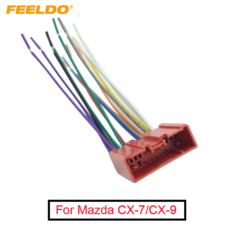 Feeldo 10pcs Car Radio Cd Player Wiring Harness Audio Stereo Wire Adapter For Mazda Install