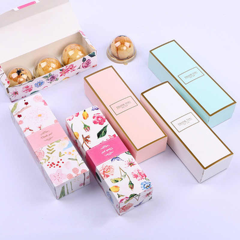 1PC Long Strip Cute Gift Box Nougat Cookie Boxes Candy Pineapple Cake Baking Paper Carton Birthday Party Wedding Wrapping Bags