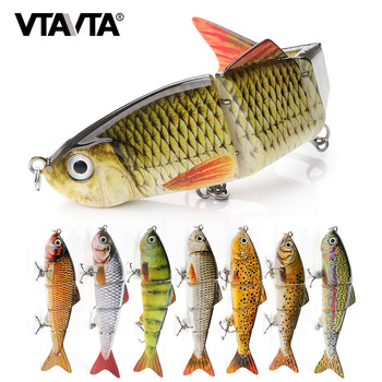 4 Segments Joint Artificial Fishing Lure Sinking Wobblers