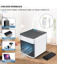 ใหม่ MINI AIR Cooler เครื่องปรับอากาศแบบพกพา USB Multi Function Humidifier เครื่องฟอกอากาศเครื่องปรับอากาศสำหรับ Home