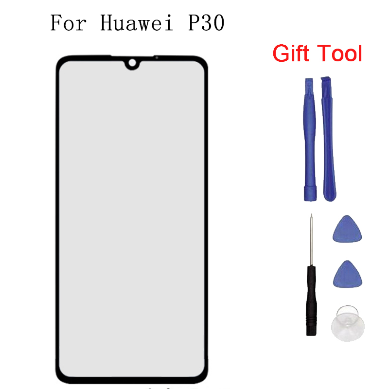 For Huawei P30 ELE-L29, ELE-L09, ELE-L04 P20 Plus P30 Lite Front Glass Touch Screen Front Glass Touch Panel Replacement + Tool
