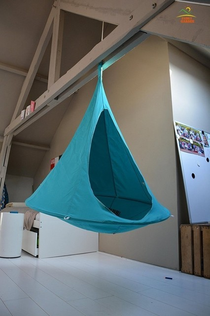 Outdoor camping waterproof leisure hanging sofa tent for many people Butterfly swing hammock hanging chair patio furniture 4