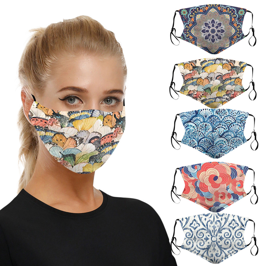 5PCS Universal Face Mask Dust-proof And Smog-washable Mouth Mask For Adults In Europe America Mascarillas De Proteccion Маска