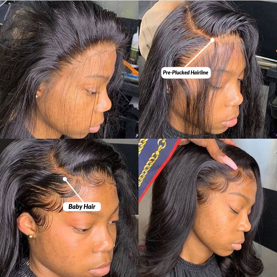 Body Wave Lace Front Human Hair Wigs Transparent Lace Frontal Wig 3