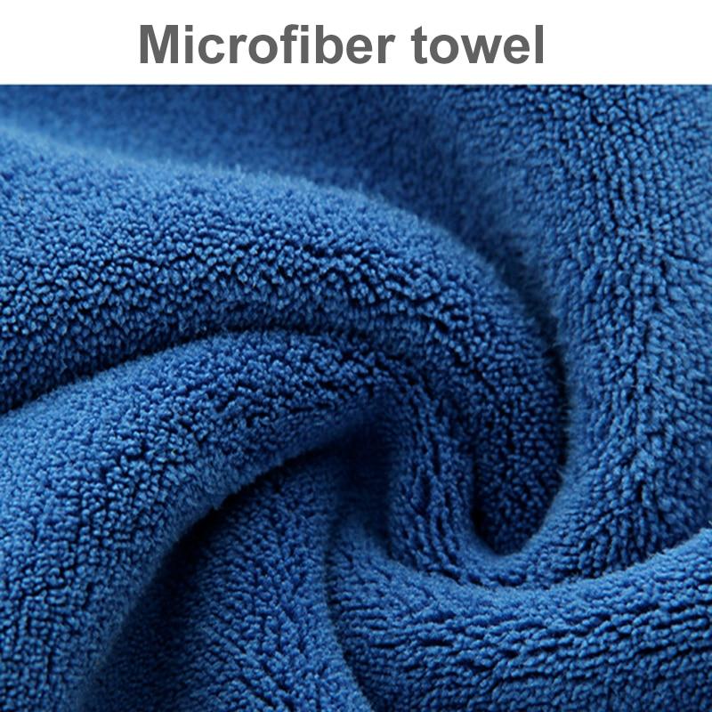 30x30/40/60CM Car Wash Microfiber Towel Car Cleaning Drying Cloth Hemming Car Care Cloth Detailing Car Wash Blue Towel
