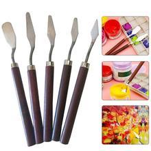 Palette Oil-Painting Fine-Arts-Tool-Set Professional 5pcs for Creative Knife School Flexible-Blades