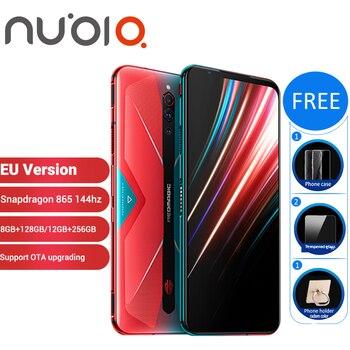Перейти на Алиэкспресс и купить Игровой смартфон Nubia Red Magic 5G 12 Гб 256 ГБ 128 ГБ 8 ГБ 6,65 дюймSnapdragon 865 NFC Redmagic 5G