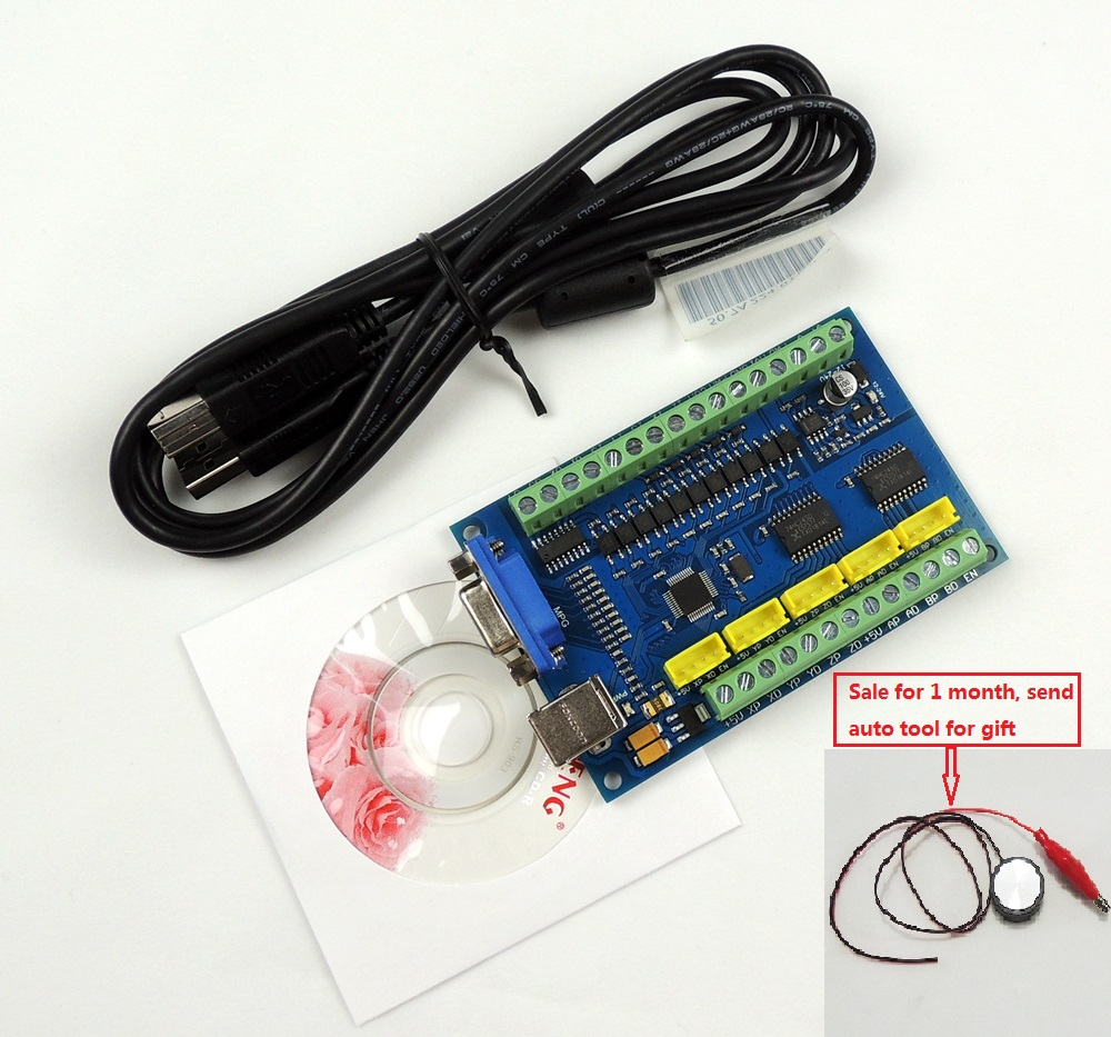 Upgrade CNC Motion Control Cards With Two Magnetic Shield USB Cable for CNC Engraving 12-24V