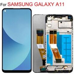 ЖК-дисплей с рамкой для samsung A11, дисплей с сенсорным экраном в сборе для Samsung A115F, A115F/DS, оригинал