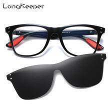 TR90 поляризованные солнцезащитные очки для женщин и мужчин Классические анти-голубые легкие очки оправа с прозрачными линзами клип на очки Oculos UV400