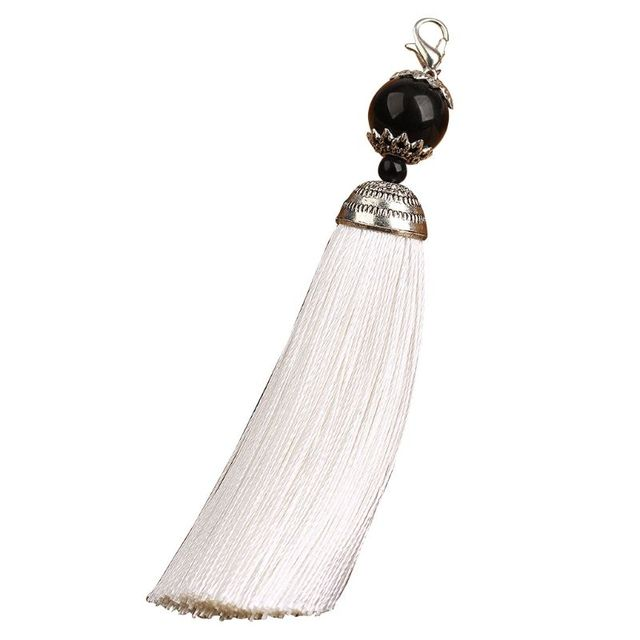 Bouddha Bead Counter Décoration Polyester pompons avec pendaison Anneau soie à coudre