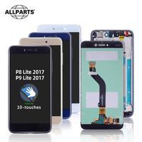 Lcd original para huawei p9 lite 2017 tela de toque com moldura substituir para huawei p9 lite 2017 display lcd la1 lx1 lx2 lx3|LCDs de celular| |  -