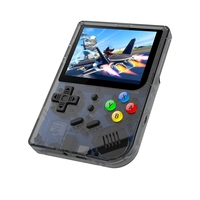Rg300 3 Inch Video Games Retro Console Build In 3000 Games Handheld for Cp1 Cp2 Neogeo Gba Gbc Gb Sfc Md Open System Black