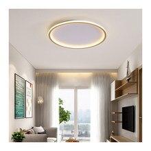 Casa decoração de teto led luzes da sala minimalismo lâmpada redonda moderna para sala luminárias casa quarto com controle remoto