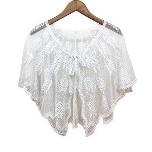 Image 2 - Châles boléro de mariée en Tulle, 9 couleurs, Cape de mariage pour robe de soirée, enveloppe de veste boléro pour femmes
