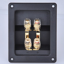 2 pcs Four speakers ABS junction box copper terminal audio accessories DIY fever thickening