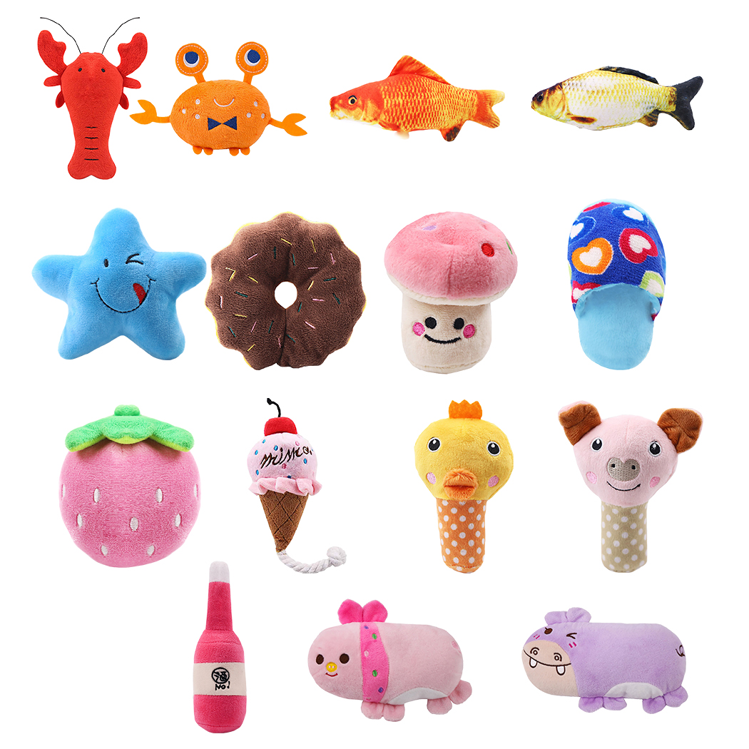 1pc Plush Squeaky Bone Dog Toys Bite-Resistant Clean Dog Chew Puppy Training Toy Soft Banana Carrot And Vegetable Pet Supplies(China)