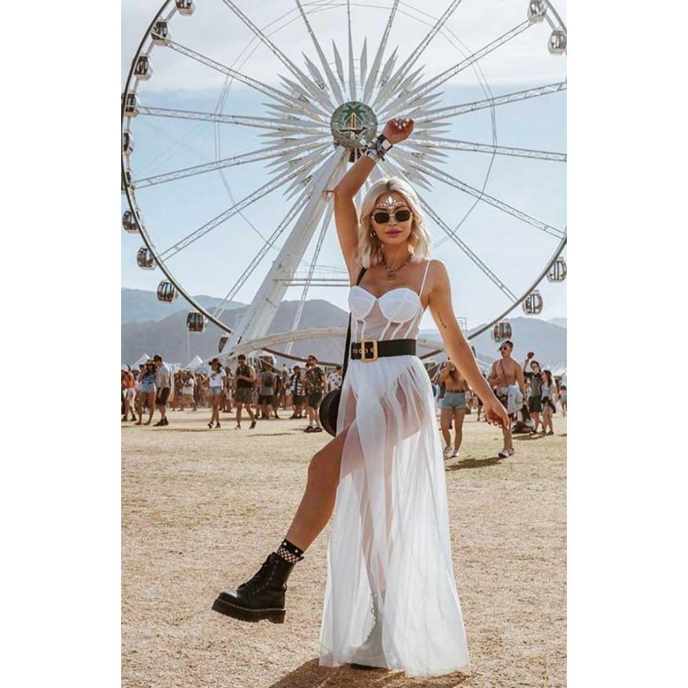 Sexy Frauen Boho Retro Sehen-durch Bodycon Spaghetti Strap Lange Kleid Elastische Hohe Taille Partei Sommer Strand Body Sommerkleid