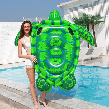 цена на Swimming Pool Beach Inflatable Sea Turtle Floating Row Inflatable Turtle Air Mattress Floating Bed Lounge Hammock Water Sport