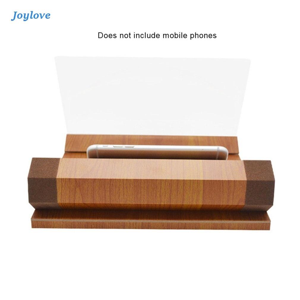 JOYLOVE 12 Inch Houtnerf Telefoon Screen Hd Oogbescherming Video Theater Ondersteuning Office Home 3D Versterker TV Cabinet