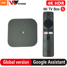 Global Xiaomi mi TV Box S 4K HDR Android TV 8,1 Ultra HD 2G 8G WIFI Google fundido Netflix IPTV Set top Box 4 reproductor de medios
