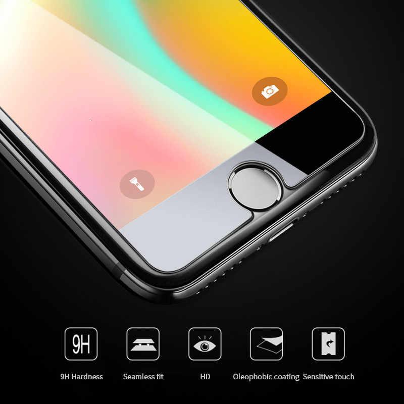 الزجاج المقسى على ل iphone 7 8 6 زائد واقي للشاشة ل iphone xr xs ماكس trempe كريستال templado ScreenProtector زجاج عليه طبقة غشاء رقيقة