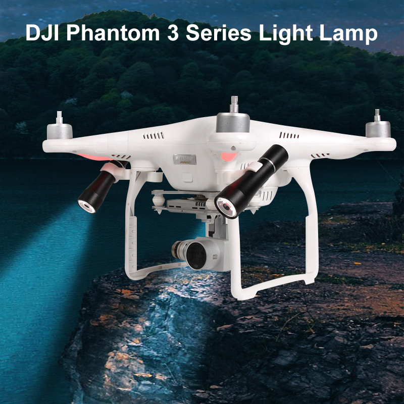 Night Flying Light LED Searchlight For DJI Phantom 3 Series Light Lamp Kit Drone Parts Accessories