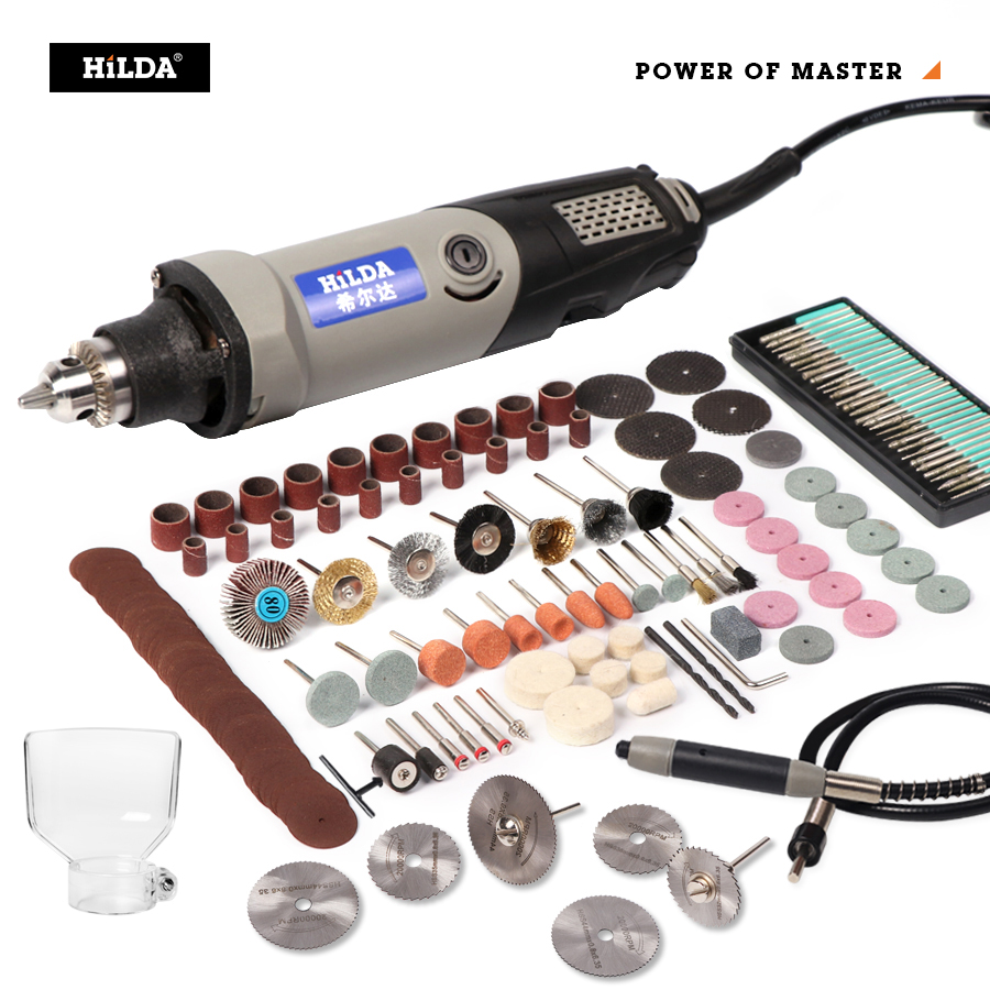 HILDA Variable Speed Rotary Tool Electric Tools 400W Mini Drill 6 Position For Dremel Rotary Tools Mini Grinding Machine