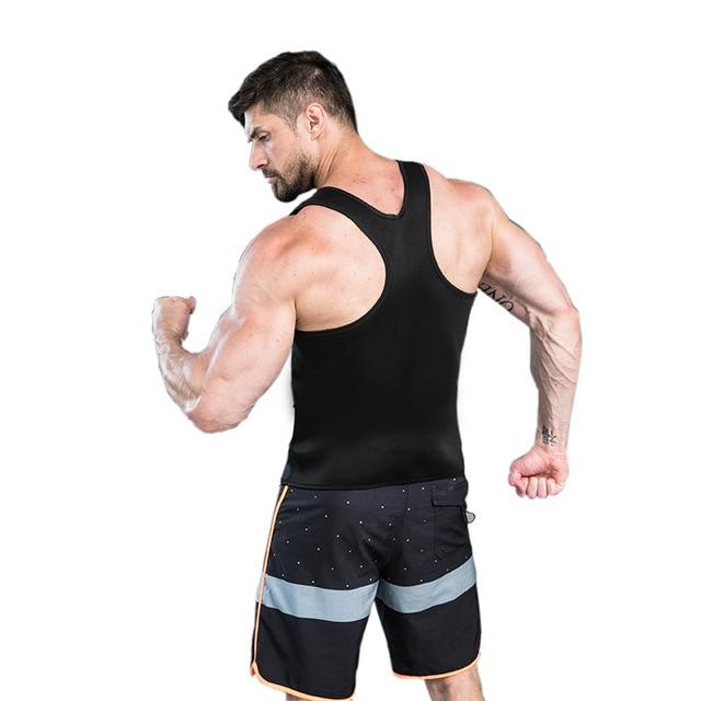 CXZD Slimming Belt Belly Men Slimming Vest Body Shaper Neoprene Abdomen Fat Burning Shaperwear Waist Sweat Corset Weight Loss 2