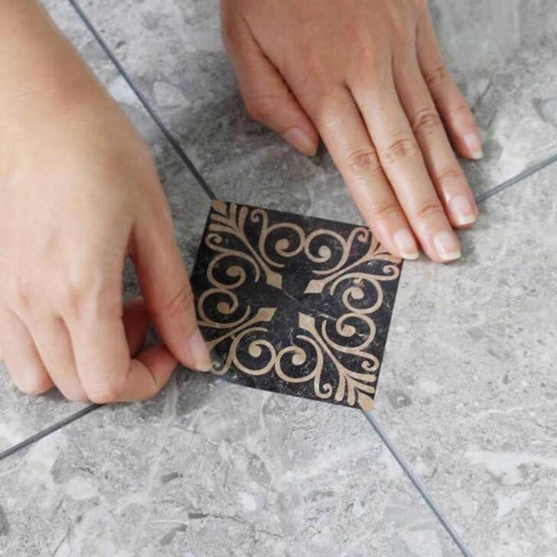 21pcs/set Self Adhesive PVC Ceramic tile stickers Waterproof Wall Sticker Art Diagonal Floor Stickers kitchen  house decoration