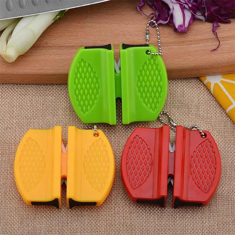 Portable Mini Pengasah Pisau Dapur Alat Dapur Aksesoris Kreatif Jenis Kupu-kupu Dua Tahap Berkemah Saku Pengasah Pisau