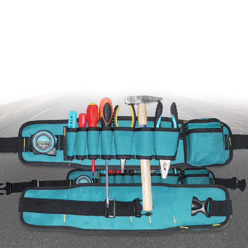 With Belt Tool Bag Tidy Durable Waterproof Organizer Electrician Pouch Waist Pack Oxford Cloth Portable Pocket Multifunctional