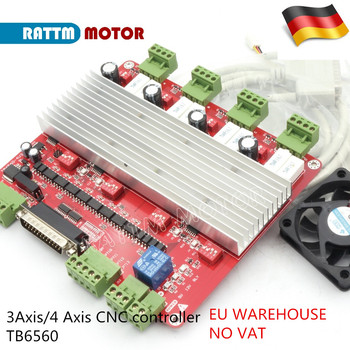 цена на EU Delivery! High speed Optocoupler 3Axis or 4 Axis CNC controller TB6560 stepper motor driver board & DB25 bable