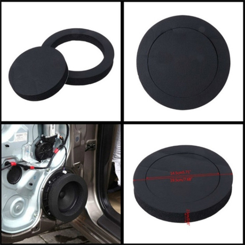 1 Pcs Car  Sound Insulation Pad Universal Speaker Insulation Ring Soundproof Sponge Pad