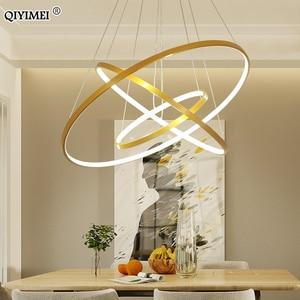 Image 2 - Lampe moderne suspendue avec cadre pendentif led lumières, éclairage en abat jour, luminaire dintérieur, idéal pour une cuisine, une salle à manger