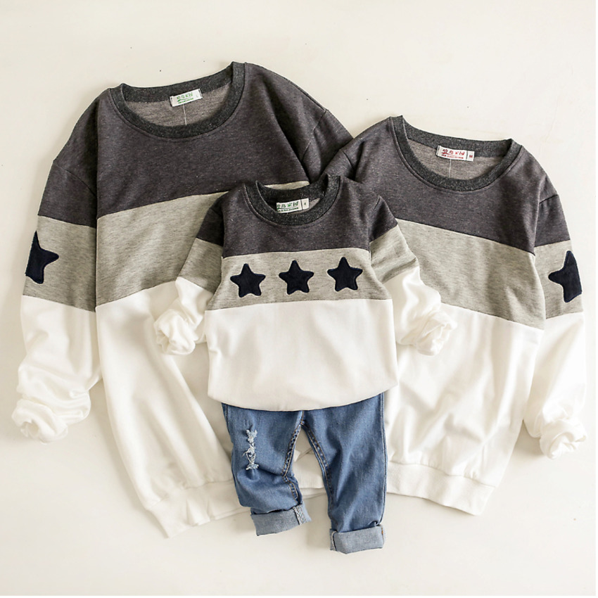Son And Father Clothes Mommy And Daughter Matching Clothing Shirts Mom And Daughter Dress Stars Hoodie Sweatshirt Pajamas