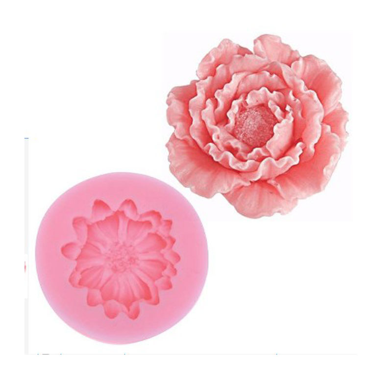 Small Lily Peony Shape <font><b>Silicone</b></font> <font><b>Mold</b></font> <font><b>Fondant</b></font> Chocolate Soap Moulds Candy <font><b>Cake</b></font> <font><b>Molds</b></font> Embossed Sugar Arts Flower DIY Wedding <font><b>Decor</b></font> image