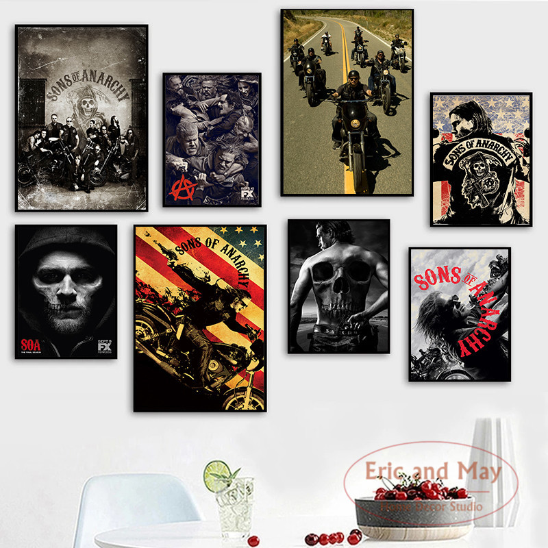 Sons Of Anarchy Tv Series Posters And Prints Canvas Painting Wall Art Picture Abstract Decorative Home Decor Plakat