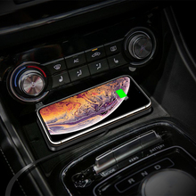 QI Wireless quickly Charger For iPhone 11 XS 12 Car Charging Pad For Samsung S10 Dock Station Non slip Mat Car Dashboard Holder