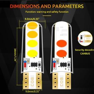Image 3 - 100 قطعة T10 LED W5W مزدوجة اللون ستروب LED فلاش LED 194 168 W5W COB 8SMD Led وقوف السيارات لمبة إسفين التخليص مصباح CANBUS