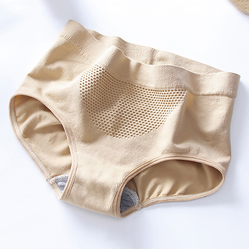 Women Warm Palace Panties Female Lingerie Soft Elastic Honeycomb Briefs Underpant Breathable Cozy Cotton Menstrual Underwear 3