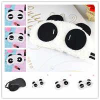 Nouveau 1 pièces mignon visage Panda masque pour les yeux ombre ombre sommeil coton lunettes masque pour les yeux masque de sommeil couverture des yeux soins de santé